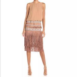BNWT Fringed Dress w Handmade Embellishments